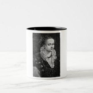 Medieval Woman Two-Tone Coffee Mug
