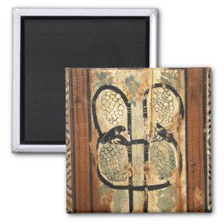 medieval wood painting art vintage old history magnet
