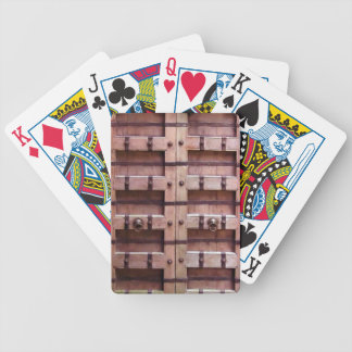 Medieval Wooden door Bicycle Playing Cards