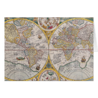 Medieval World Map From 1525 Cards