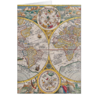 Medieval World Map From 1525 Greeting Card