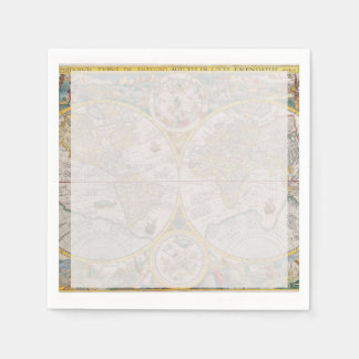 Medieval World Map From 1525 Napkin