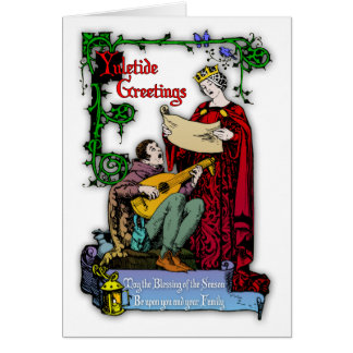 Medieval Yuletide Greetings Greeting Cards