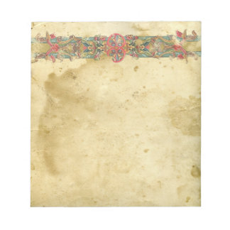 Medievel Floral Banner Notepad
