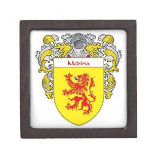 Medina Coat of Arms/Family Crest Keepsake Box