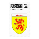 Medina Coat of Arms/Family Crest Postage Stamps
