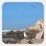 Medina de Essaouira y de la costa atlántica Calcomanía Cuadrada