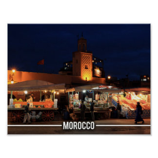 Medina de Marrakesh - Marrakesh Souks, Marruecos Póster