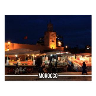 Medina de Marrakesh - Marrakesh Souks, Marruecos Tarjeta Postal