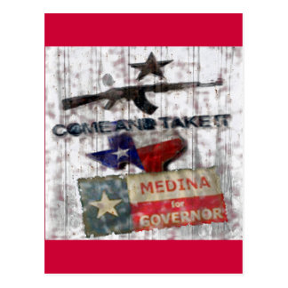 Medina For Governor Postcard