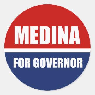 MEDINA FOR GOVERNOR ROUND STICKERS