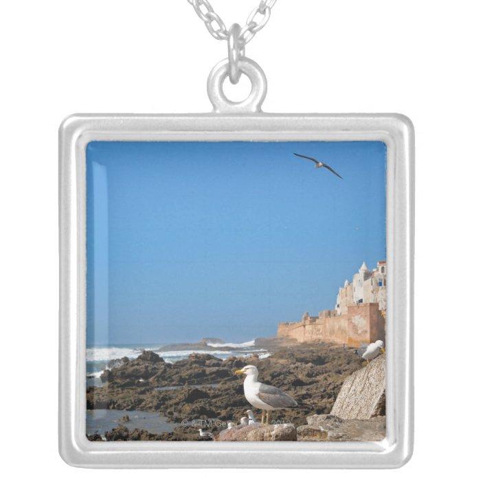 Medina of Essaouira and the Atlantic coast Silver Plated Necklace
