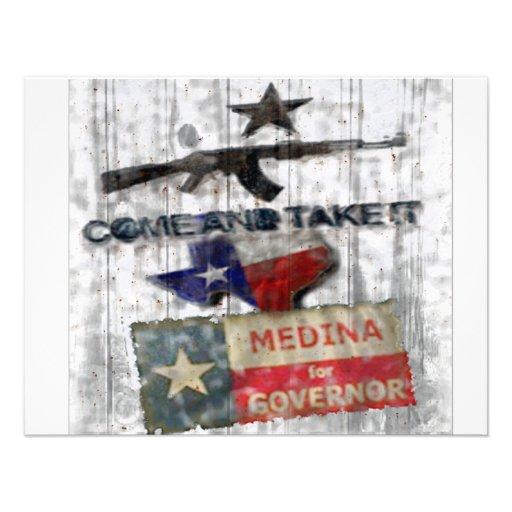Medina para el gobernador invitación