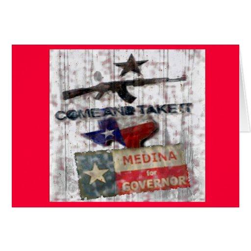 Medina para el gobernador tarjeta de felicitación