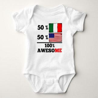 Medio americano a medias italiano playera