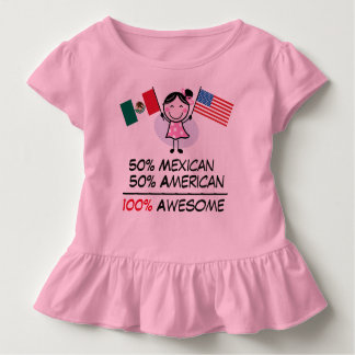 Medio americano a medias mexicano playeras