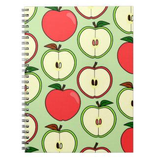 Medio Apple verde y rojo imprime Cuaderno