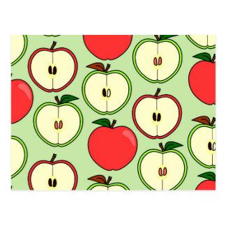 Medio Apple verde y rojo imprime Postales