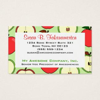 Medio Apple verde y rojo imprime Tarjetas De Visita