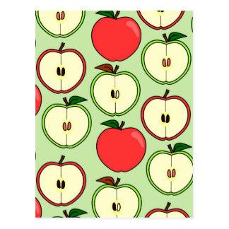 Medio Apple verde y rojo imprime Tarjetas Postales