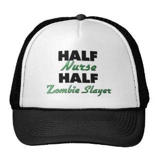 Medio asesino del zombi de la media enfermera gorra