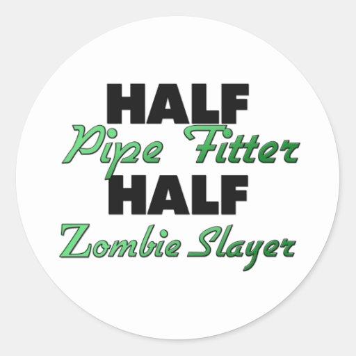 Medio asesino del zombi del ajustador de tubo medi pegatina