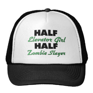Medio asesino del zombi del chica de elevador medi gorras