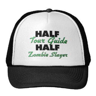 Medio asesino del zombi del guía turístico medio gorro