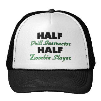 Medio asesino del zombi del instructor de taladro gorras de camionero