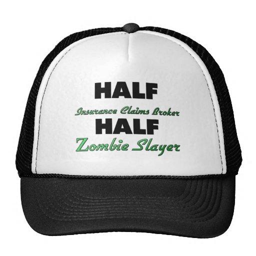 Medio asesino del zombi del medio agente del crédi gorras