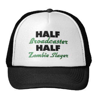 Medio asesino del zombi del medio locutor gorros