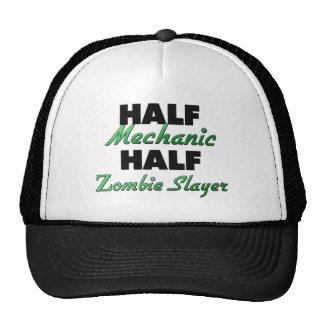 Medio asesino del zombi del medio mecánico gorros