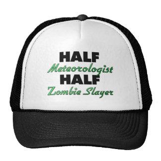 Medio asesino del zombi del medio meteorólogo gorros