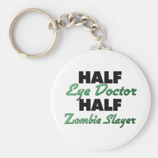 Medio asesino del zombi del medio oculista llaveros
