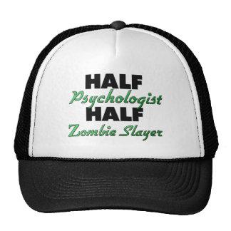Medio asesino del zombi del medio psicólogo gorra