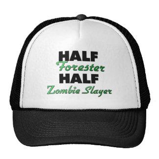 Medio asesino del zombi del medio silvicultor gorro de camionero