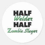 Medio asesino del zombi del medio soldador pegatinas