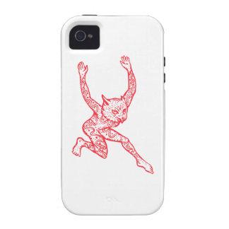 Medio búho del medio hombre con el baile de los ta vibe iPhone 4 fundas