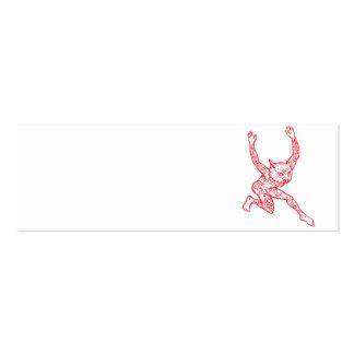Medio búho del medio hombre con el baile de los tarjetas de visita mini