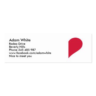Medio corazón rojo tarjeta personal