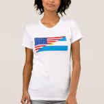 medio coun de los E.E.U.U. de la bandera de Playera