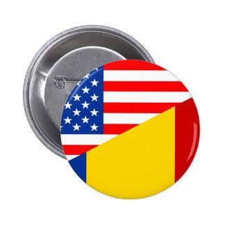 medio countr de los E.E.U.U. de la bandera de Pin Redondo De 2 Pulgadas
