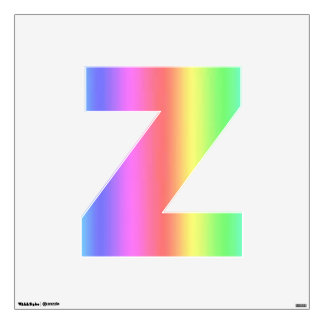 Medio de la letra Z de la etiqueta de la pared de Vinilo Decorativo