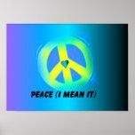 Medio de la paz él 2 posters