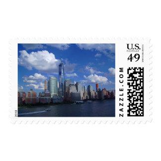 """Medio de NYC WTC, 2,1"""" x 1,3"""", $0,49 (1ra clase Estampilla"""