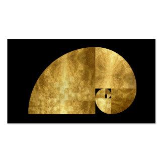 Medio de oro, imagen de la hoja de oro tarjetas de visita