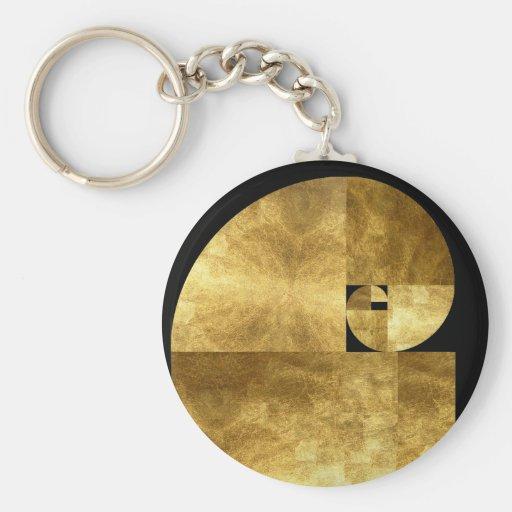 Medio de oro llavero redondo tipo pin