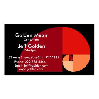 Medio de oro tarjetas de visita