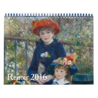 Medio de Renoir 2016 Calendarios De Pared