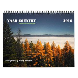 Medio del calendario 2016 del país de Yaak